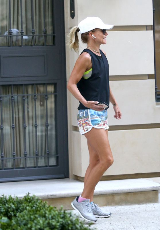 Kelly Ripa - Going For a Jog in NYC 07/25/2019