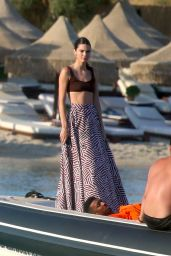 Kendall Jenner at a Boat in Mykonos 07/09/2019
