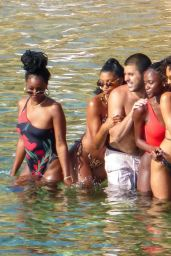 Kendall Jenner in a Bikini on a Beach in Mykonos 07/08/2019