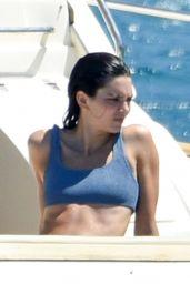 Kendall Jenner in a Blue Bikini 07/26/2019