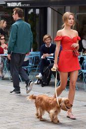 Kimberley Garner - Walking Her Dog in London 07/17/2019