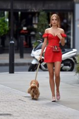 Kimberley Garner - Walking Her Dog in London 07/17/2019