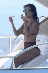 Kourtney Kardashian in a Bikini on the Yacht – Sardinia 07/30/2019 (more pics)