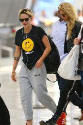Kristen Stewart and Stella Maxwell - JFK Airport in NYC 07/08/2019