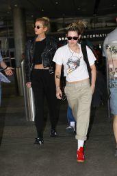 Kristen Stewart and Stella Maxwell - LAX Airport 07/20/2019