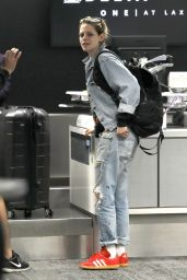 Kristen Stewart in Travel Outfit - LAX Airport in Los Angeles 07/04/2019
