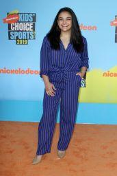 Laurie Hernandez – Nickelodeon Kids' Choice Sports Awards 2019 in Santa Monica