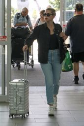 Lili Reinhart in Travel Outfit - Vancouver Airport 07/27/2019