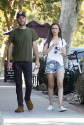 Lily Collins and Charlie Mcdowell - Out in Los Feliz 07/14/2019