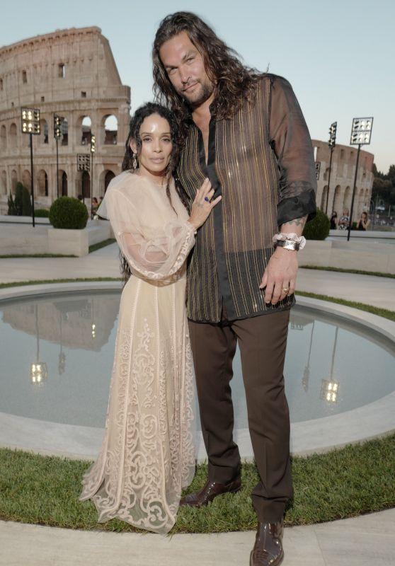 Lisa Bonet and Jason Momoa – Fendi Show in Rome 07/04/2019