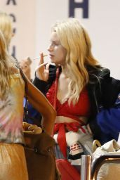 Lottie Moss at Airport in Barcelona 07/19/2019