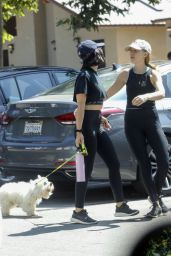 Lucy Hale - Hike With Her Dog in LA 07/29/2019