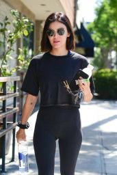 Lucy Hale in Gym Ready Outfit - Studio City 07/24/2019