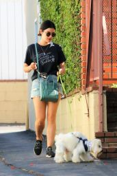 Lucy Hale in Jeans Shorts - Studio City 07/10/2019