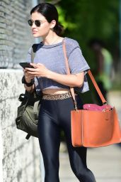 Lucy Hale in Spandex - Shopping in Studio City 07/13/2019