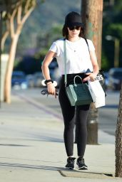 Lucy Hale in Tights - Out in Studio City 07/02/2019
