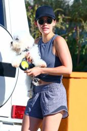 Lucy Hale - Picking Up Her Dog From the Dog Care in Studio City 06/30/2019