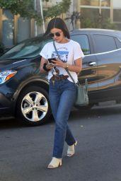 Lucy Hale Street Style - Leaving a Hair salon in LA 07/01/2019