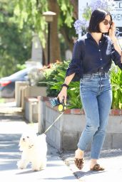 Lucy Hale - Takes Her Dog Out For a Walk in Studio City 07/27/2019