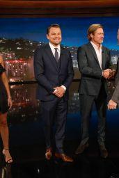 Margot Robbie, Leonardo DiCaprio and Brad Pitt - Jimmy Kimmel Live 07/22/2019