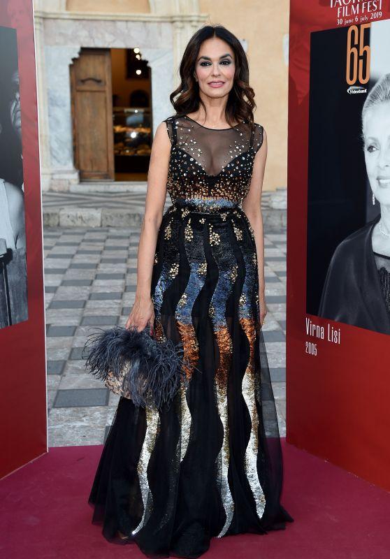 Maria Grazia Cucinotta – 2019 Taormina Film Fest Closing Evening