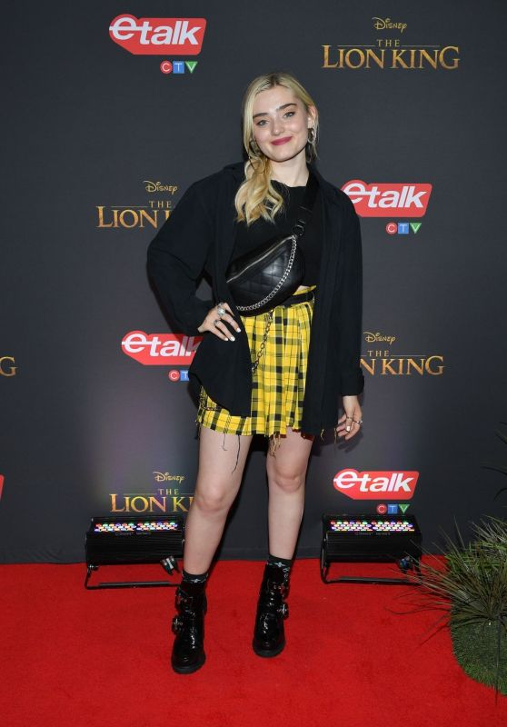 "Meg Donnelly - ""The Lion King"" Premiere in Toronto"