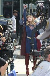 "Melissa Benoist - ""Supergirl"" Set in Vancouver 07/16/2019"