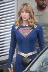 "Melissa Benoist - ""Supergirl"" Set in Vancouver 07/16/2019"