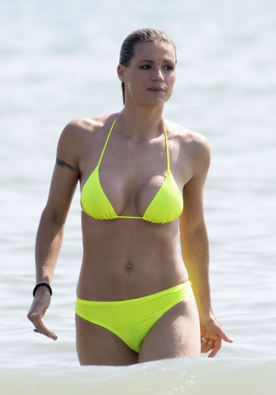 Michelle Hunziker in a Bikini on the Beach in Milano Marittima 07/03/2019