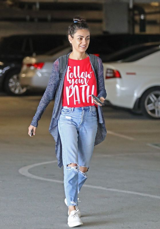 Mila Kunis at a Local Nails Salon in LA 07/10/2019