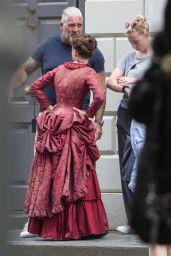"Millie Bobby Brown - Filming ""Enola Holmes"" in London 07/22/2019"