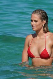 Natalie Jayne Roser in a Red Bikini at Miami Beach 07/09/2019