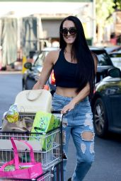 Nikki Bella Street Style - Grocery Shopping in Los Angeles 07/29/2019