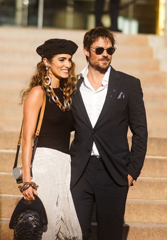 Nikki Reed and Ian Somerhalder - Outside Armani Haute Couture Fall/Winter 2019/2020 in Paris