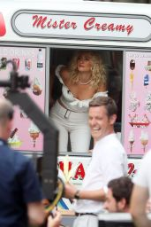 Pixie Lott - Serving Ice Cream Live On The One Show in London 07/25/2019