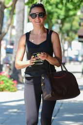 Rachael Leigh Cook in Workout Gear - Leaving a Gym in Studio City 07/12/2019