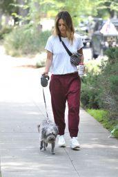 Rachel Bilson - Walking Her Dog in LA 07/08/2019