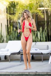 Rachel McCord and Christy Powers in Bikinis at a Pool in West Hollywood 07/03/2019