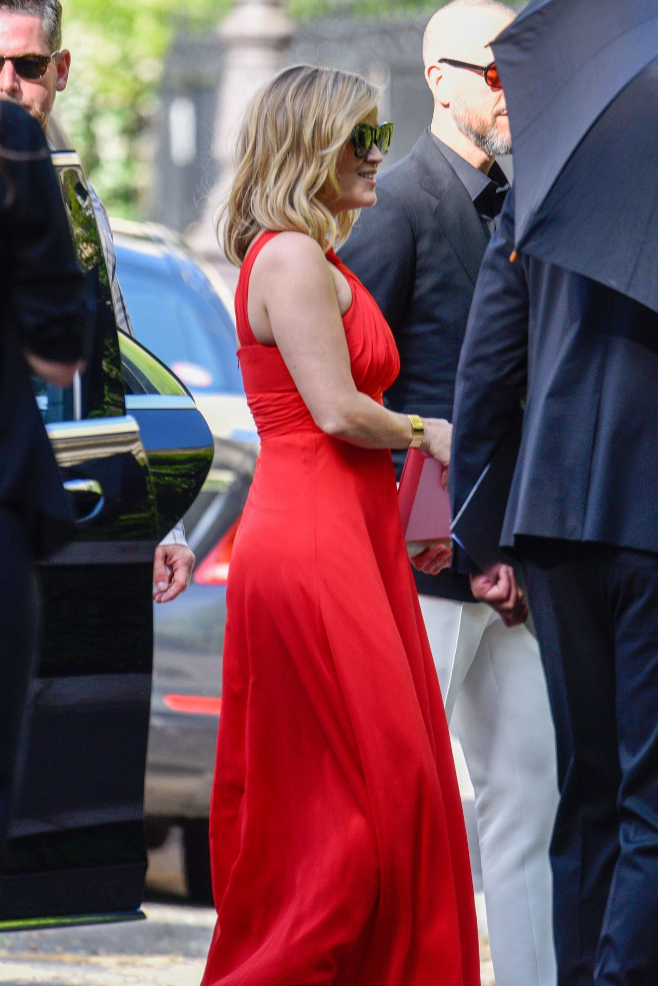 Reese Witherspoon Arrives For Zoe Kravitz And Karl Glusman