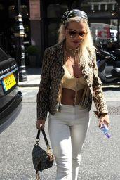 Rita Ora - Arrived at Scotts Restaurant in London 07/04/2019