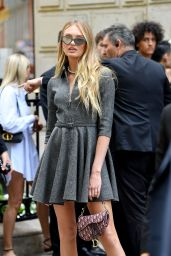 Romee Strijd - Outside the Christian Dior Haute Couture Fall/Winter 2019/2020 Show in Paris