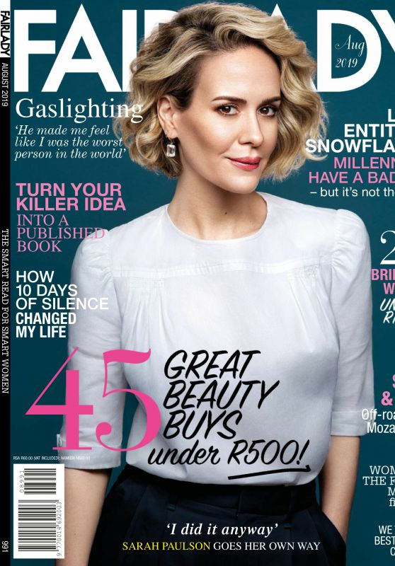 Sarah Paulson - Fairlady Magazine August 2019 Issue