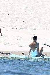 Selena Gomez in a White Swimsuit 07/01/2019