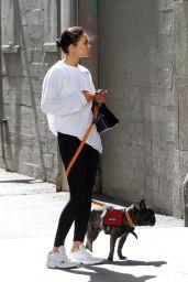 Shanina Shaik - Walking her dog in LA 07/18/2019