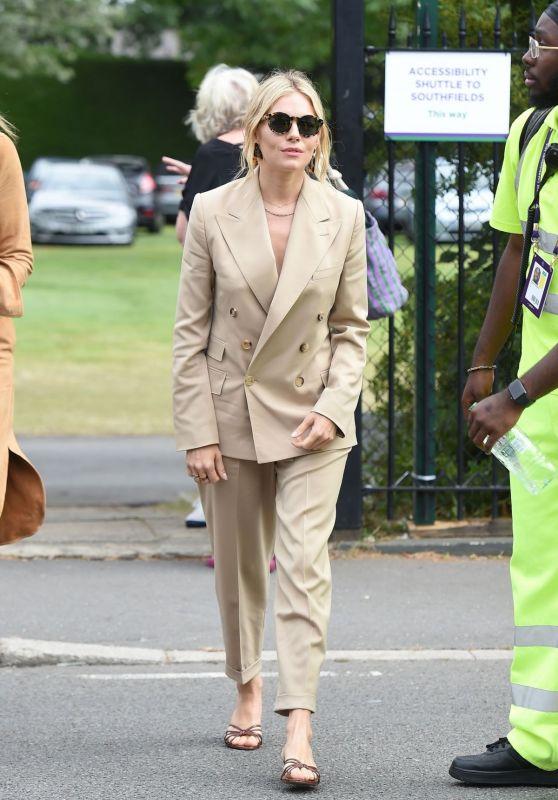 Sienna Miller - Arriving at 2019 Wimbledon Tennis Championships 07/08/2019