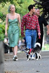 Sophie Turner and Joe Jonas - Out With Their Dog in New York 007/28/2019