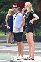 Sophie Turner Leggy in Shorts 07/30/2019