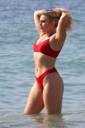 Tallia Storm in a Red Bikini - Ibiza 07/05/2019