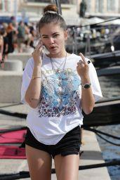 Thylane Blondeau Summer Street Style - Saint Tropez 07/15/2019