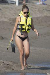 Victoria Swarovski in a Black Bikini - Marbella 07/23/2019